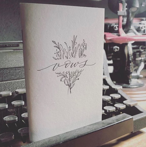 Custom Hand lettering and Illustration from @riannonboven on our Gray Kraft Notebook