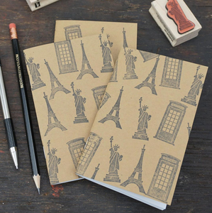 Travel Notebooks Made Easy with Rubber Stamps
