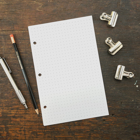 Disc-Bound Notebook Paper, Dot Grid Paper, 5.5 x 8.5