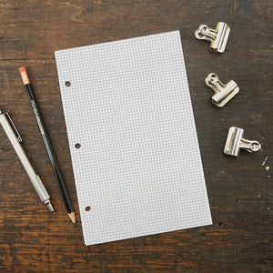 Disc-Bound Notebook Paper, Mini Grid Paper, 5.5 x 8.5
