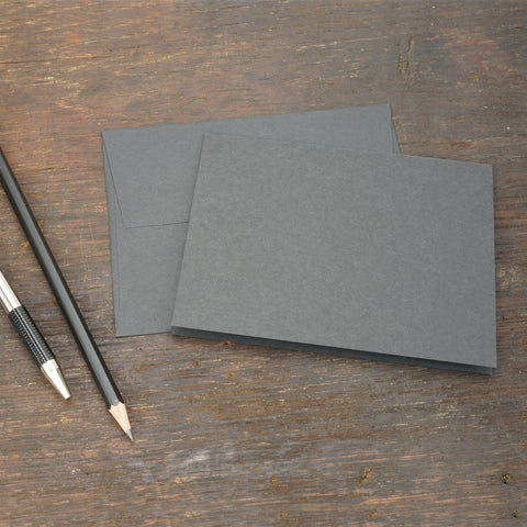 Black Note Cards with Envelopes, Size A2
