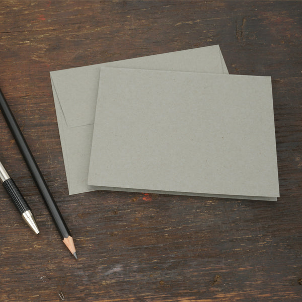 Gray Note Cards with Envelopes, Size A2