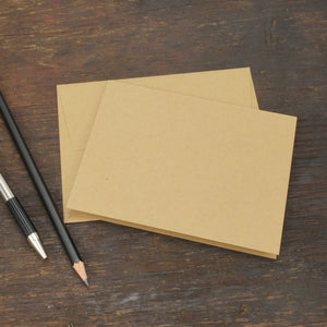 Kraft Brown Note Cards with Envelopes, Size A2