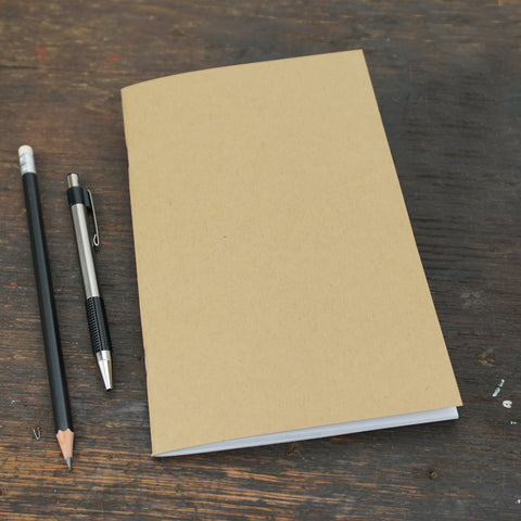 Kraft Brown Notebook, Lined Pages, 5 x 8""