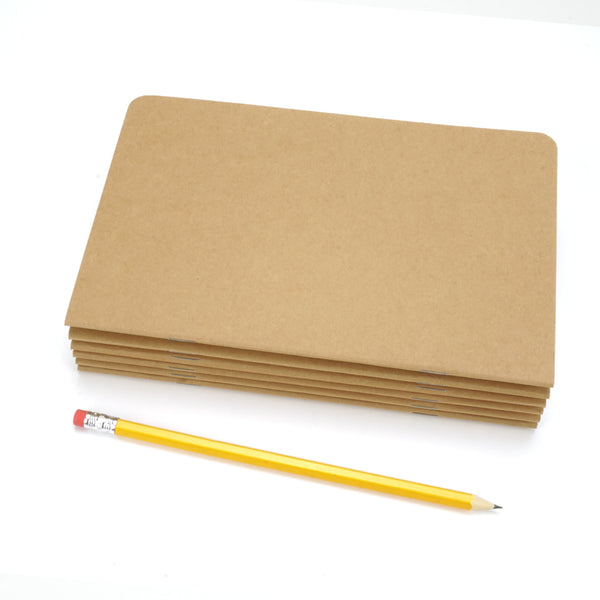 Standard Kraft Brown Notebook, Blank Pages, 5.25 x 8.25""