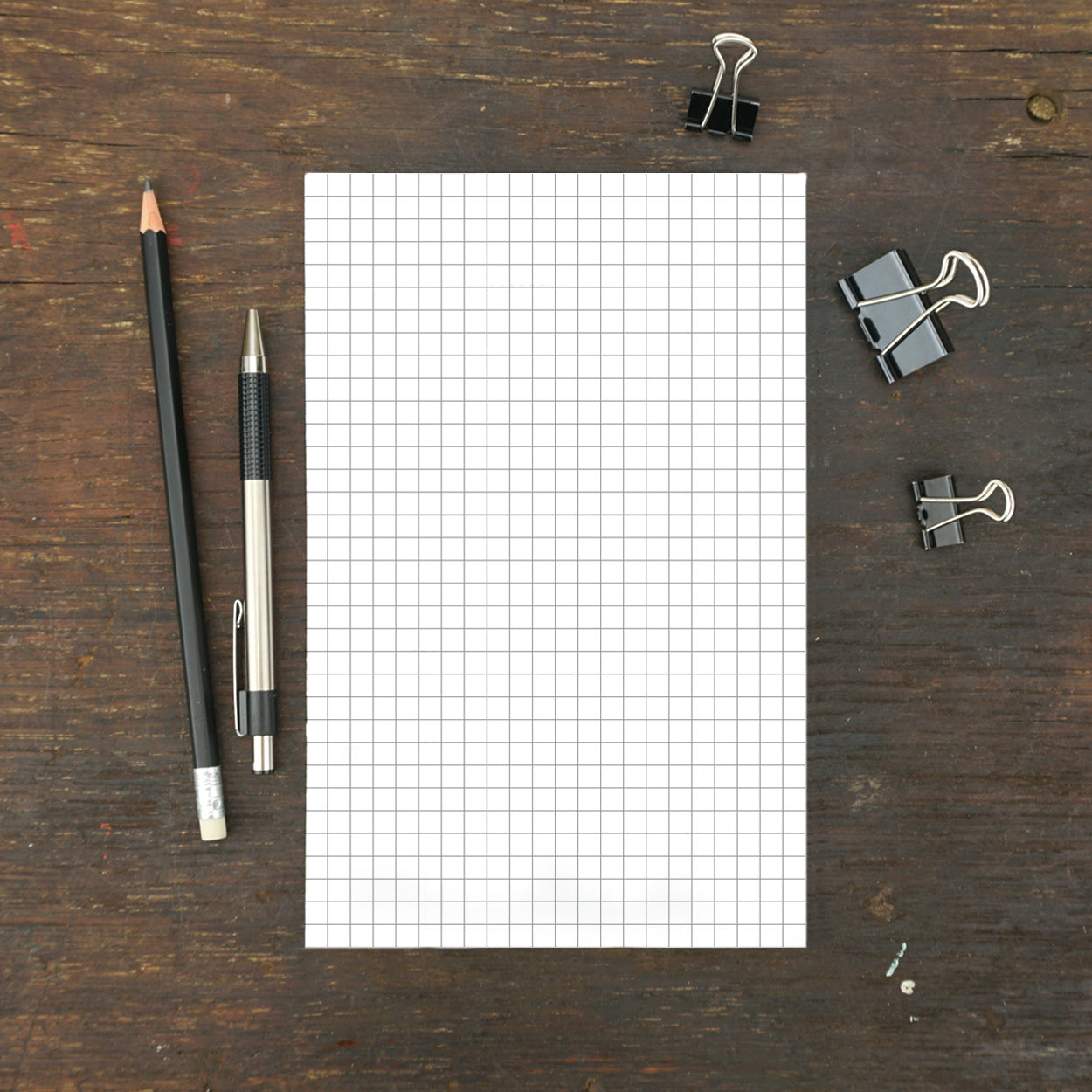 Standard Grid Notepad, 5.5 x 8.5 Inches, Set of 2