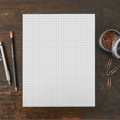 Standard Grid Notepad, 8.5 x 11 Inches, Set of 2
