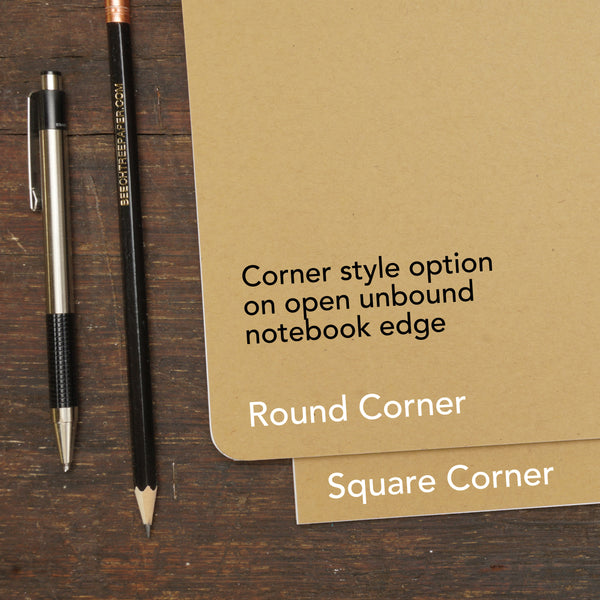 Kraft Brown, Wire-Bound Notebook, 3.5 x 5.5""