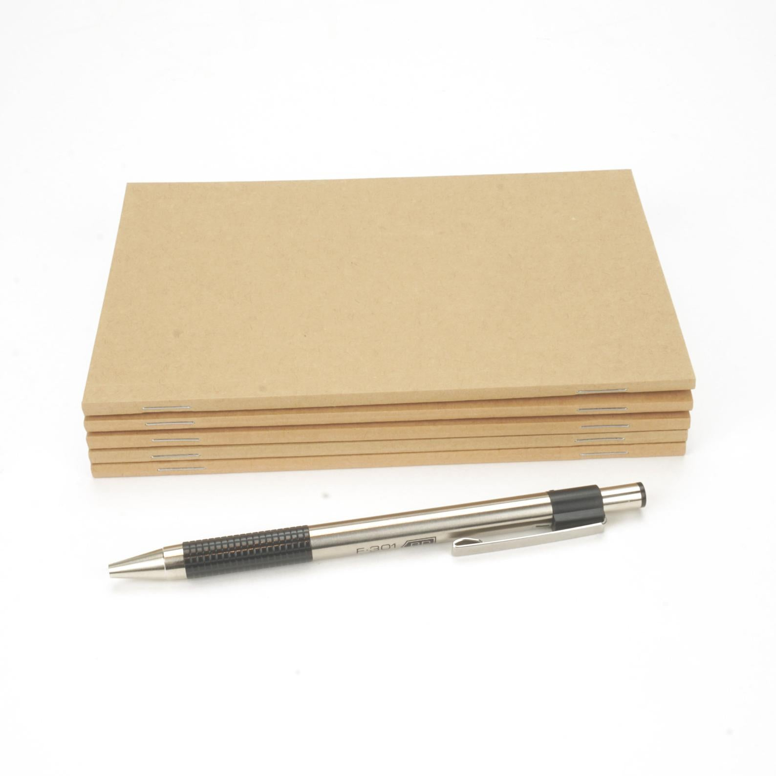 "Perfect-Stapled, Standard Kraft Brown Notebook, Blank Pages, 4"" x 6"", A6"