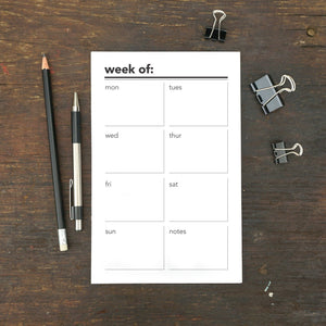 "Week Of Planning Notepad, Corner Line, 5.5 x 8.5"", Set of 2"