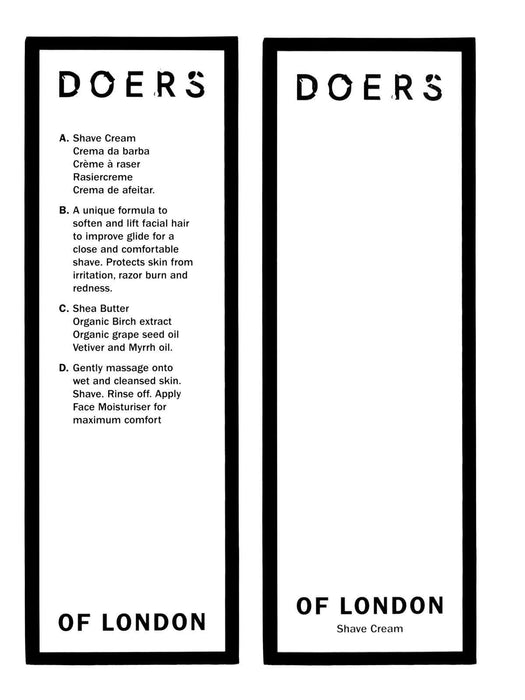 Doers of London | Crème à raser | Pomgo.ch