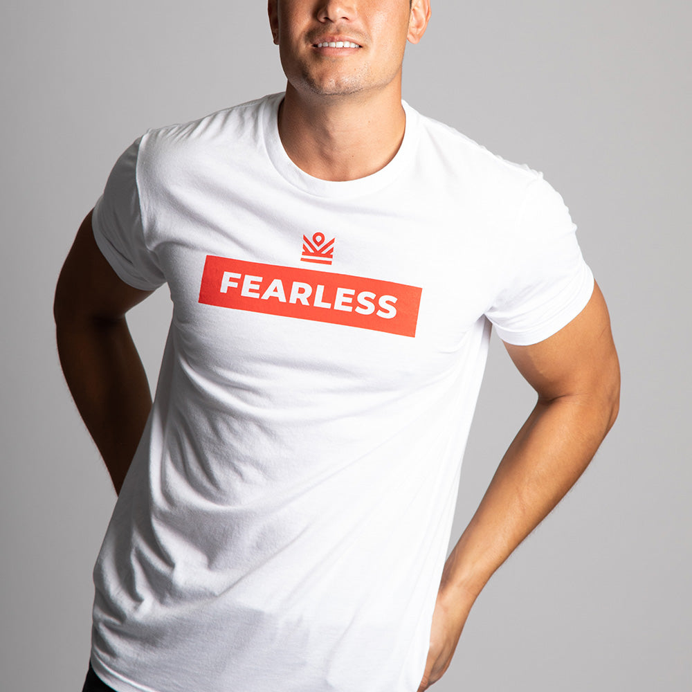 graphic tee </br> white fearless
