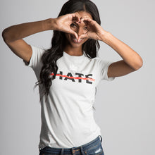 Load image into Gallery viewer, graphic tee </br> white hate