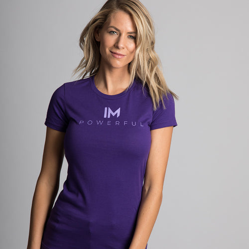 graphic tee </br> purple powerful
