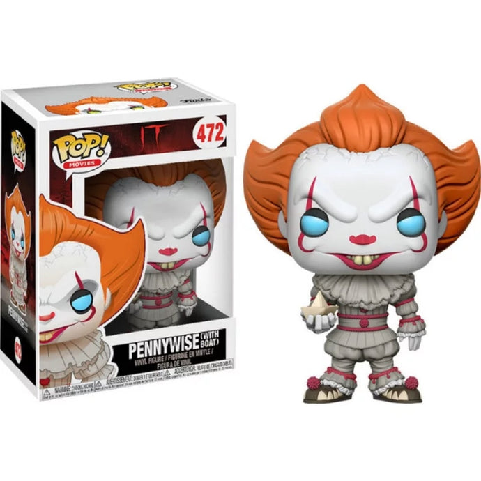 Funko pop  Horror Movie: IT - Pennywise with boat Vinyl Figure Model Toy IN Box