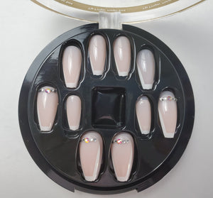 French With Stone Coffin Nails - Chrestelle