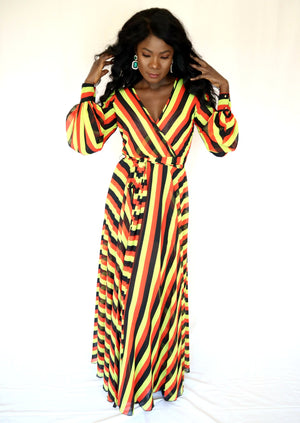 Load image into Gallery viewer, Gaudy Long Sleeve Maxi Dress - Chrestelle