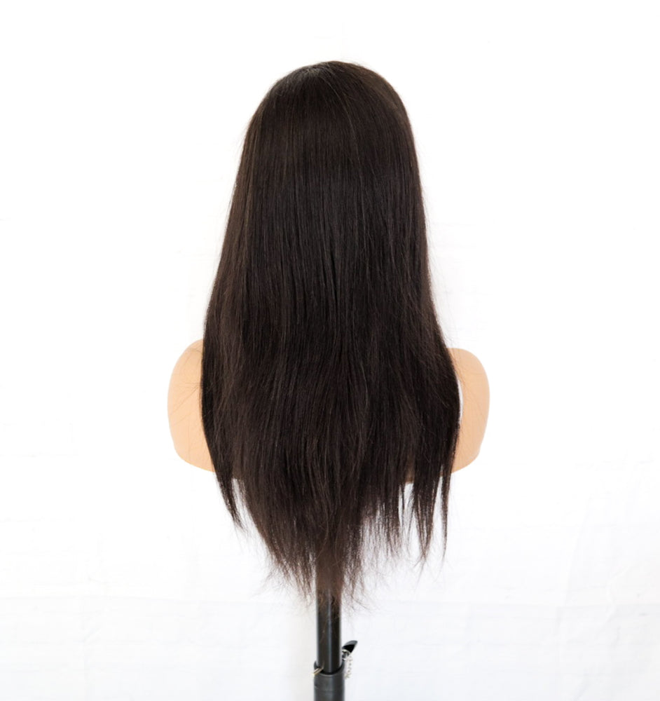 Chrestelle Human Hair Straight 13x4 Lace Front Wig - Chrestelle