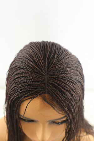 Yuri Micro Twist Braided Wig - Brown - Chrestelle