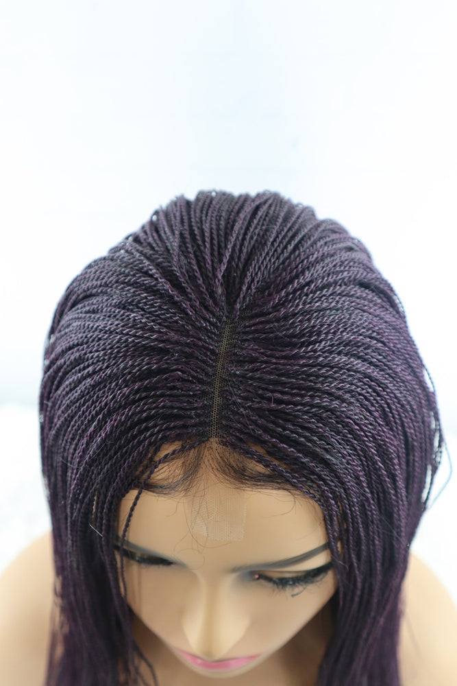 Load image into Gallery viewer, Yuri Micro Twist Braided Wig - Purple - Chrestelle