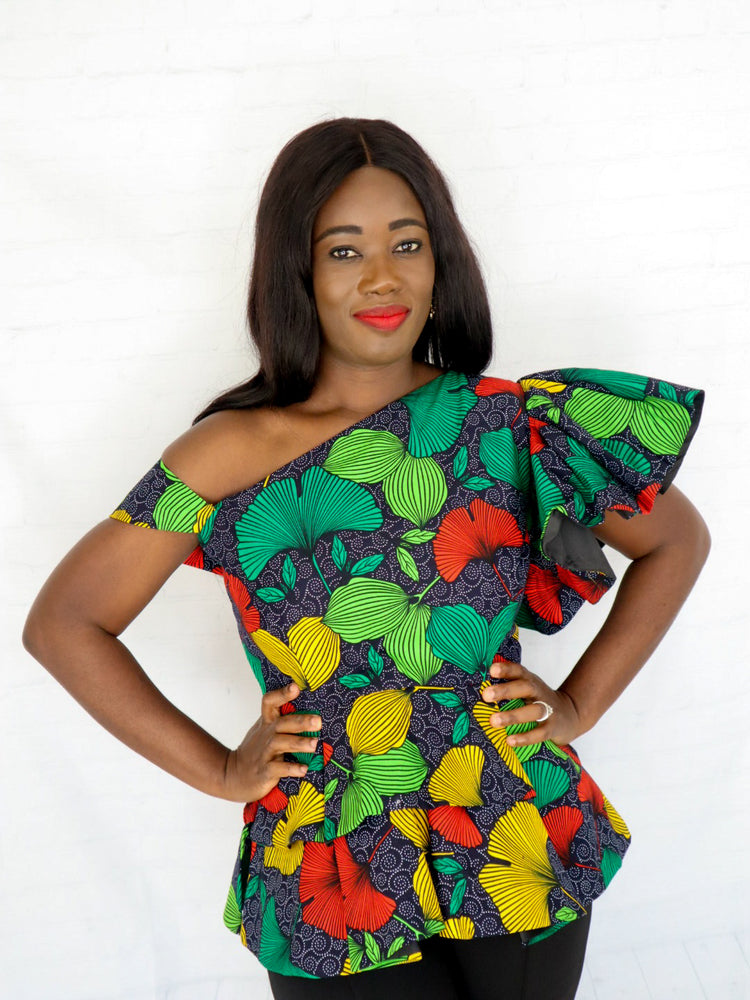 Load image into Gallery viewer, Osayi One-Shoulder Peplum Top - Chrestelle