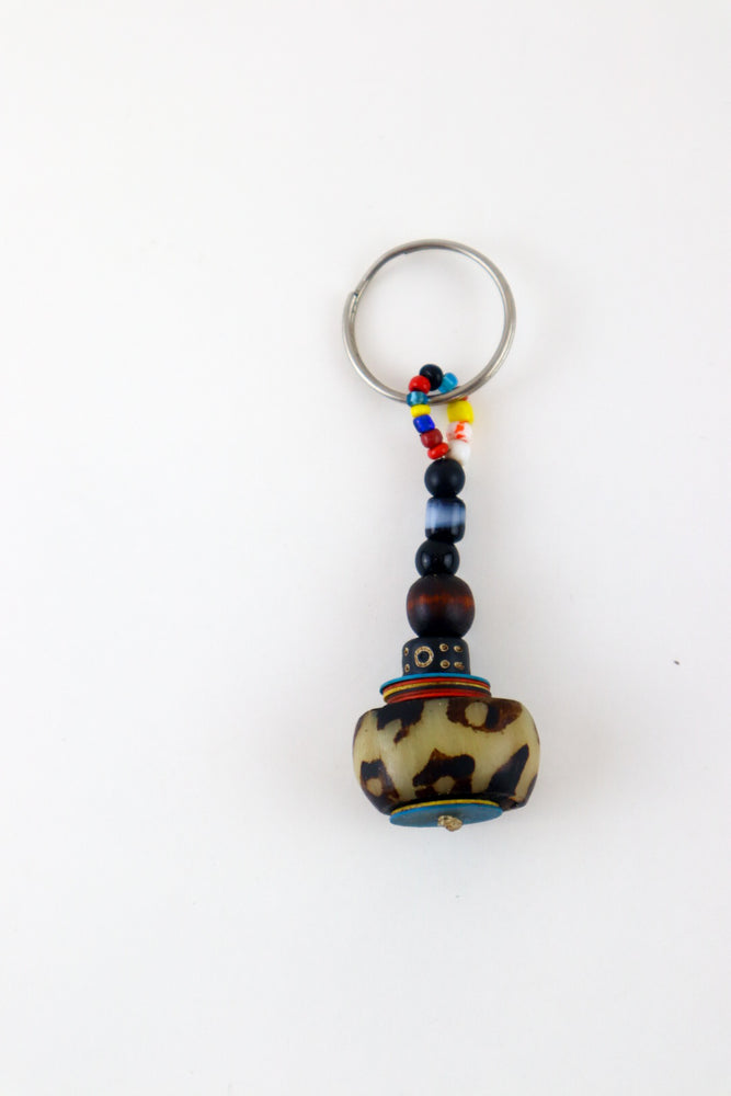 Leo Beaded Keychain