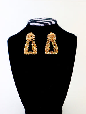 Load image into Gallery viewer, Space Crystal Earrings - Gold - Chrestelle