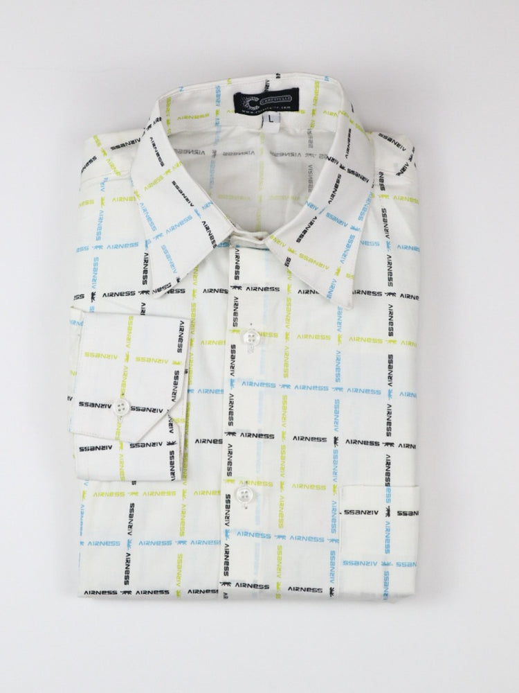 Streamed Long Sleeve Shirt - White - Chrestelle