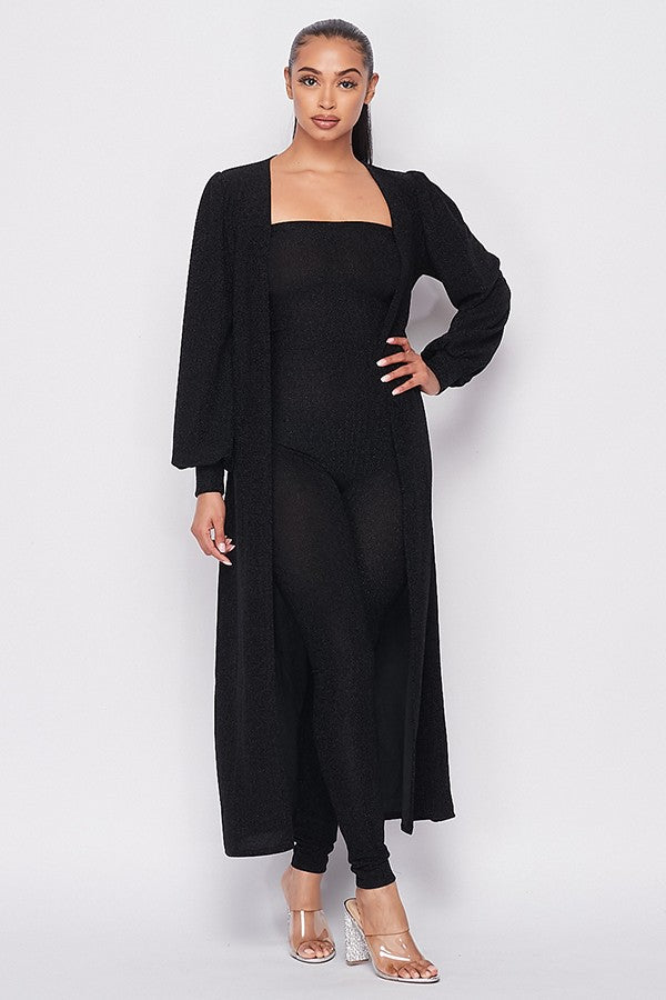 Ellen Jumpsuit and Jacket Set - Black
