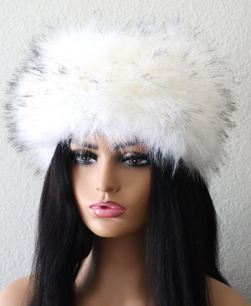Load image into Gallery viewer, Luxury Faux Fur Headband - White
