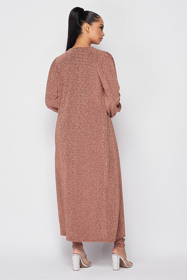 Load image into Gallery viewer, Ellen Jumpsuit and Duster Set - Rose Gold - Chrestelle
