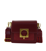 Olympia Suede & Leather Shoulder Bag - Maroon