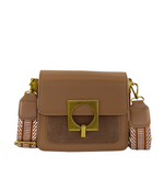 Olympia Suede & Leather Shoulder Bag - Tan