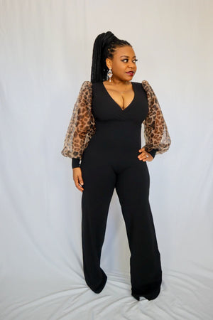 Bey Belted Jumpsuit - Black - Chrestelle