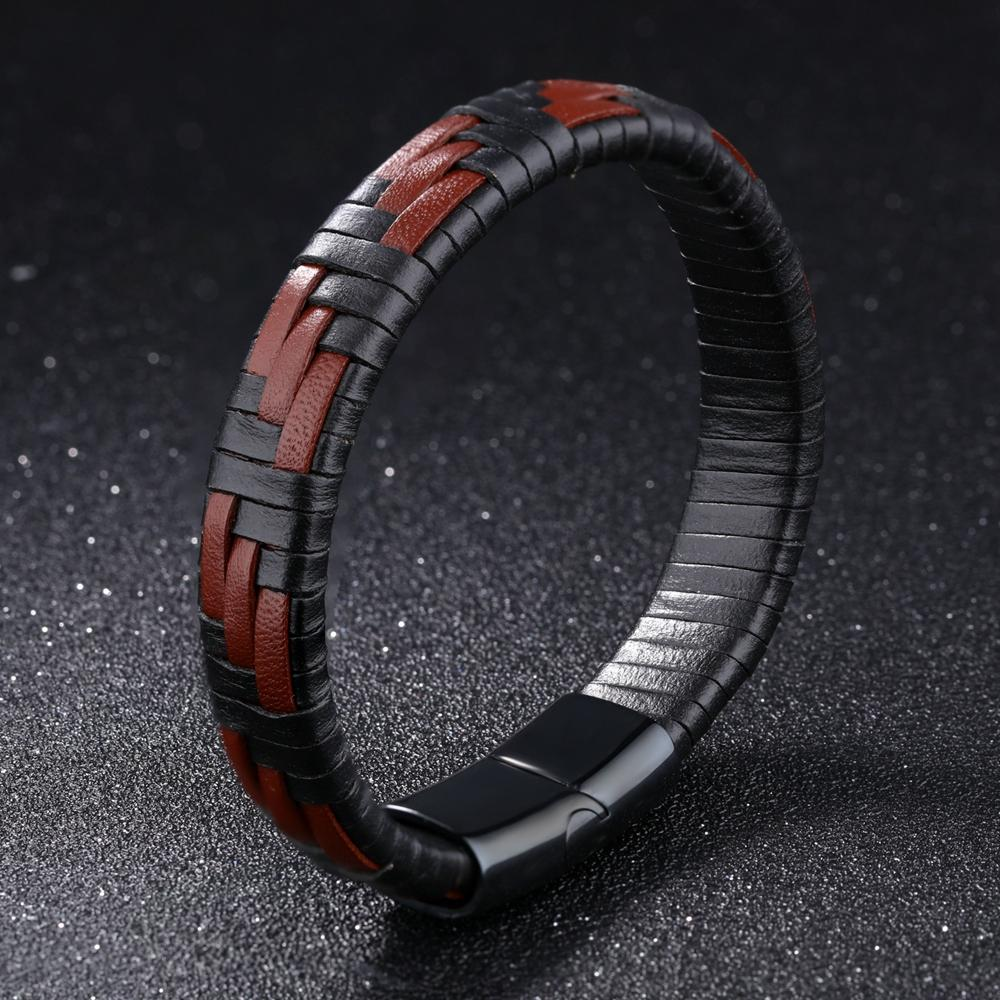 Load image into Gallery viewer, Char Woven Leather Bracelet - Chrestelle