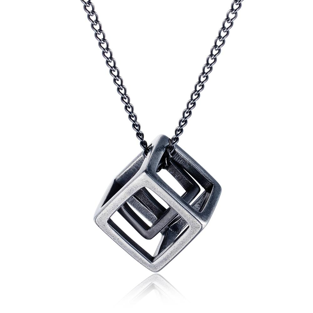 Double Hollow Cube Necklace