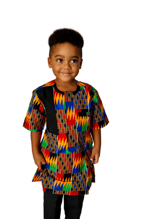 Load image into Gallery viewer, Jasti Short Sleeve African Print Shirt - Chrestelle