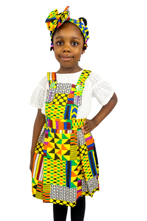 Load image into Gallery viewer, Tola Girls Overall With Headband - Chrestelle