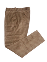 Textured Tailored Pants - Brown