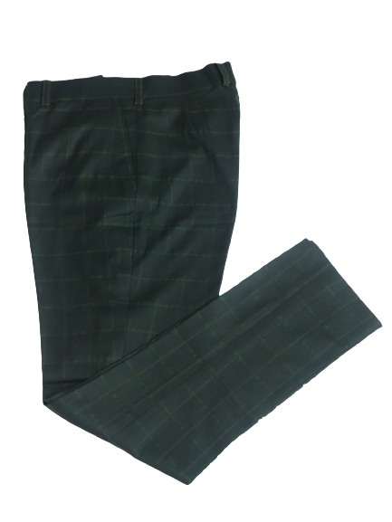 Load image into Gallery viewer, Textured Tailored Pants - Green - Chrestelle