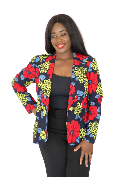 Load image into Gallery viewer, Taria Print Long Sleeve Blazer - Chrestelle