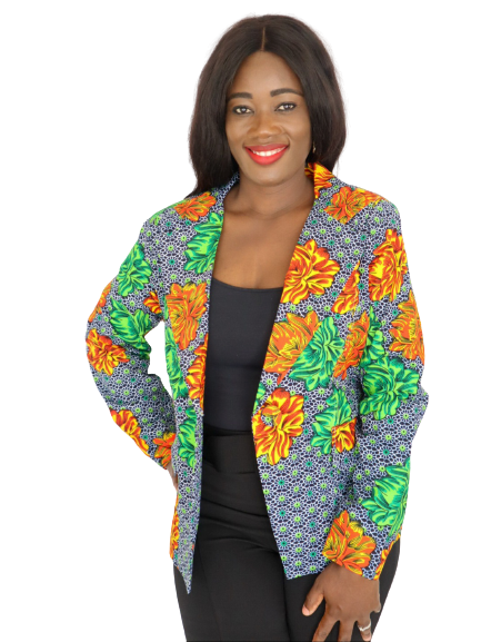 Load image into Gallery viewer, Kunyi Print Long Sleeve Blazer - Chrestelle