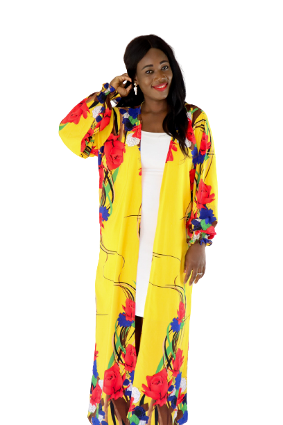 Load image into Gallery viewer, Oriental Floral Print Belted Duster - Chrestelle