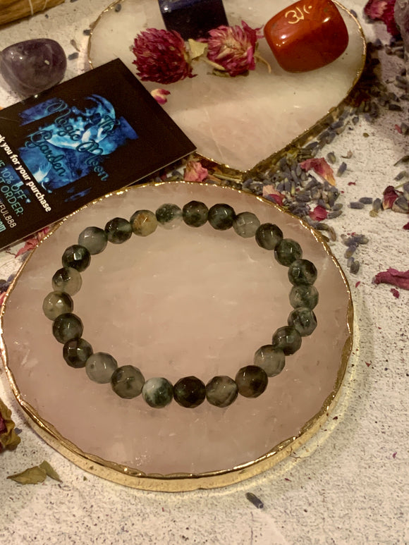 """Self-Growth"" Chrysoprase Faceted Bracelet - The Magic Moon Garden"
