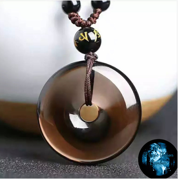 Ice Obsidian Buckle/Donut Pendant - The Magic Moon Garden