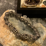 "Silver ""Double Pixiu"" Feng Shui Wealth Bracelet (11-12MM) - The Magic Moon Garden"