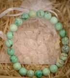 "The ""Blissful"" Peruvian Turquoise Healing Bracelet (8MM) - The Magic Moon Garden"