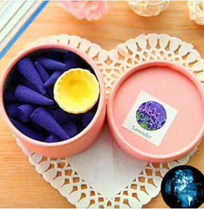Aromatherapy Incense Cones (naturally made with essential oils) - The Magic Moon Garden