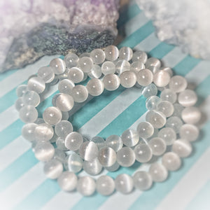 "The ""Pure Angelic"" Selenite Healing Bracelet (8MM) - The Magic Moon Garden"