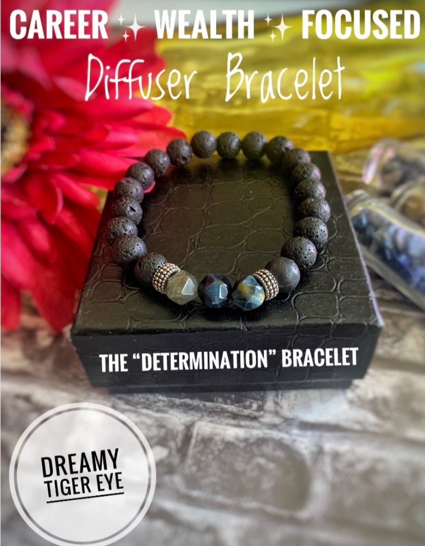 "The ""Determination"" Dreamy Tiger Eye Diffuser Healing Bracelets (8MM)"